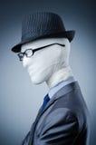 Mann abgedeckt in den medizinischen Verbänden Lizenzfreies Stockbild