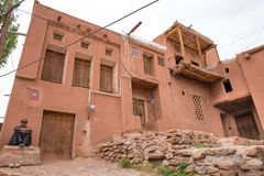 Mann in Abyaneh, der Iran Stockfotos