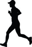 Mann als Läuferschattenbild Lizenzfreies Stockfoto