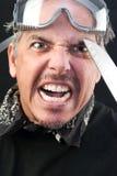 Mann-Angriffe mit Messer Lizenzfreies Stockbild