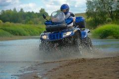 Mann auf ATV Lizenzfreies Stockbild