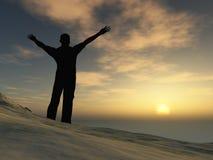 Mann auf Berg Lizenzfreie Stockfotografie