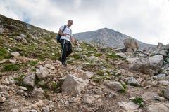 Mann auf Berg Pirin Stockbilder