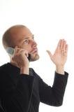 Mann auf dem Handy Lizenzfreie Stockbilder