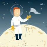 Mann auf dem Mond Lizenzfreie Stockfotografie