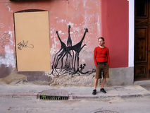 Mann auf der Straße Stockfoto