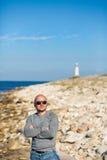 Mann auf einem Strand Lizenzfreie Stockfotografie