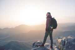 Mann auf einen Berg Lizenzfreie Stockfotografie