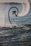 Mann auf flyboard Lizenzfreies Stockfoto