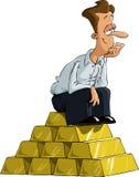 Mann auf Gold Lizenzfreie Stockfotos