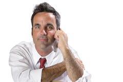 Mann auf Handy Lizenzfreie Stockbilder