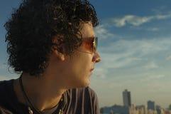 Mann auf Sonnenbrillen Stockbilder