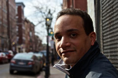 Mann auf Straße Stockfotos