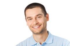 Mann auf Weiß Lizenzfreie Stockfotos