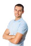Mann auf Weiß Stockbild