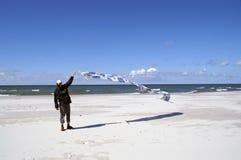 Mann auf Wind Lizenzfreies Stockfoto