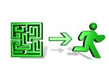 Mann aus dem Labyrinth heraus stock abbildung
