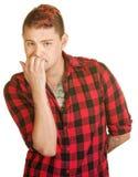 Mann-beißende Fingernägel Stockbilder