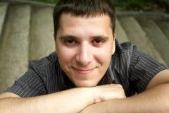Mann beim Hemd-Lächeln Stockbilder