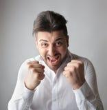 Mann bereit zu kämpfen Stockfotos