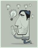 Mann betet für Ideen Lizenzfreies Stockbild