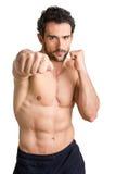 Mann betriebsbereit zu kämpfen Stockfoto