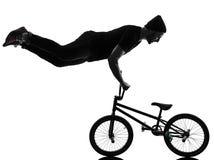 Mann bmx akrobatische Abbildung Schattenbild Stockfotos