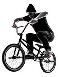 Mann bmx akrobatische Abbildung Schattenbild Lizenzfreie Stockbilder