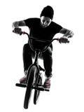 Mann bmx akrobatische Abbildung Schattenbild Stockbilder