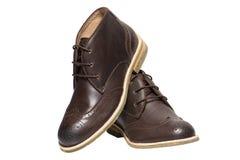 Mann-Brown-Schuhe Lizenzfreie Stockfotos