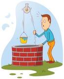Mann am Brunnen Lizenzfreies Stockbild