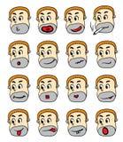 Mann-Charakter-Gesichts-Nachahmer Stockfotos