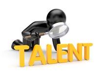 Mann 3d überprüfen Wort Talent Lizenzfreie Stockfotos