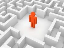 Mann 3d im Labyrinth Vektor Abbildung
