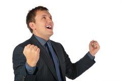 Mann dankt Gott Lizenzfreies Stockfoto