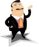Mann-Darstellung mit überzeugtem Lizenzfreie Stockfotos
