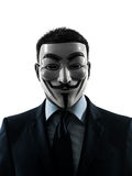 Mann deckte anonymes Gruppenschattenbild ab Stockbilder