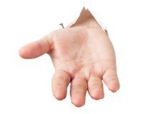 Mann dehnt heraus seine Hand aus Lizenzfreie Stockfotografie