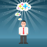 Mann-denken-positiv-Gedanken Stockfoto
