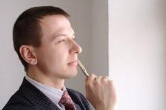 Mann denkt Lizenzfreies Stockfoto