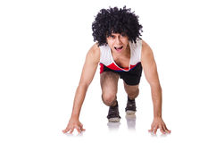 Mann, der Übungen tut Stockfoto