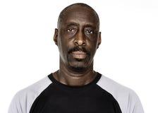 Mann der afrikanischen Abstammung in einem Trieb Lizenzfreies Stockbild