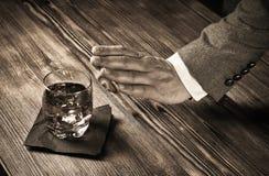 Mann, der Alkohol ablehnt Lizenzfreies Stockbild
