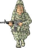 Mann der AMERIKANISCHEN Armee Stockfotografie