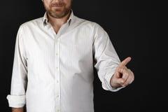 Mann, der auf etwas zeigt Lizenzfreie Stockbilder