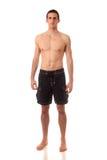 Mann in der Badebekleidung Lizenzfreies Stockfoto