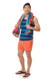Mann in der Badebekleidung Lizenzfreie Stockfotos