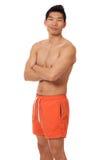 Mann in der Badebekleidung Stockbilder