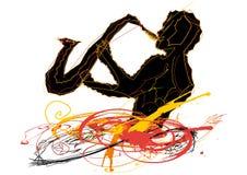 Mann, der das Saxophon spielt Lizenzfreie Stockbilder