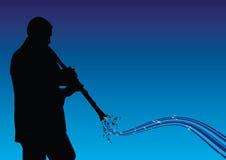 Mann, der den Clarinet spielt vektor abbildung
